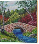 The Little Stone Bridge Wood Print