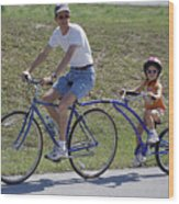 The Littlest Biker Wood Print