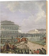The Liverpool And National Steeplechase At Aintree Wood Print