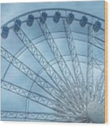 The Liverpool Wheel In Blues 2 Wood Print