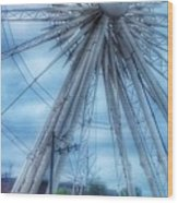 The Liverpool Wheel In Blues 3 Wood Print