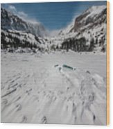 The Loch Under Snow Wood Print