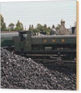 The Locomotive Yard Wood Print
