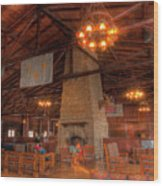 The Lodge At Starved Rock State Park Illinois Wood Print