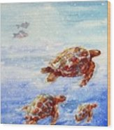 The Loggerheads Catch The Currents Wood Print