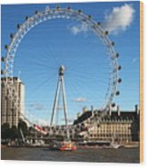 The London Eye 2 Wood Print
