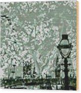 The London Eye And A Bridge Wood Print