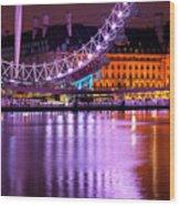 The London Eye Wood Print by Donald Davis