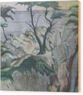The Lone Cypress Wood Print