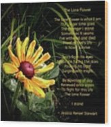 The Lone Flower Wood Print