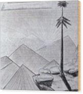 The Lone Pine Wood Print