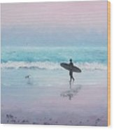 The Lone Surfer 2 Wood Print