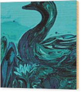 The Lonely Duck Wood Print