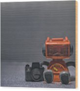 The Lonely Robot Photographer Wood Print