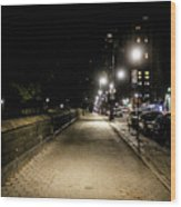 The Lonely Street By Central Park Ny Wood Print