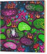 The Lonesome Frog II Wood Print by Brenda Higginson