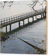 The Long Dock Wood Print