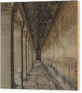 The Long Hall Wood Print