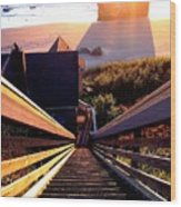 The Long Long Stairway    Wood Print