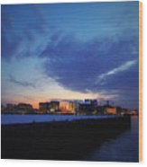 The Long Pier, Boston Ma Wood Print