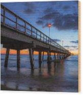 The Long Pier Wood Print