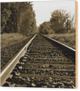 The Long Road Home Wood Print