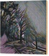 The Long Run Wood Print