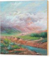 The Long Trail Wood Print