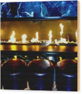 The Lounge Fireplace Wood Print