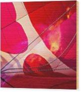 Hearts A' Fire - The Love Hot Air Balloon Wood Print