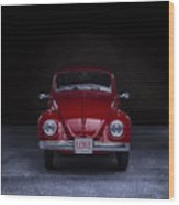The Love Bug Square Wood Print