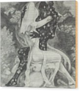 The Lovers Night And Day Wood Print