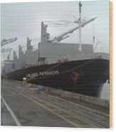 The Lowlands Patrasche Ship At Port In Portland Oregon Wood Print