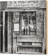 The Luckenbach Post Office Wood Print