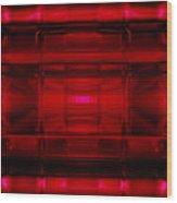 The Machine Red Wood Print