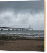 The Mackinac Bridge Wood Print