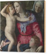 The Madonna And Child With Saints Wood Print