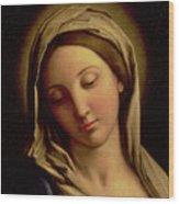 The Madonna Wood Print by Il Sassoferrato