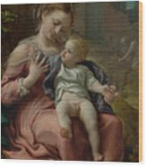 The Madonna Of The Basket Wood Print