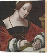 The Magdalene Writing A Letter Wood Print