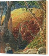 The Magic Apple Tree Wood Print by Samuel Palmer