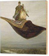 The Magic Carpet Wood Print by Apollinari Mikhailovich Vasnetsov