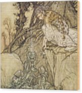 The Magic Cup Wood Print by Arthur Rackman