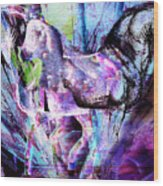 The Magic Of Horses Wood Print