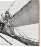 The Magic Of Sail Wood Print