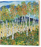 The Magical Aspen Forest Wood Print by Christy Woodland