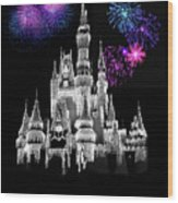 The Magical Kingdom Castle Wood Print