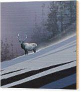 The Magnificent Elk Wood Print