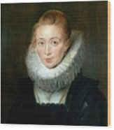 The Maid Of Honor To The Infanta Isabella Peter Paul Rubens Wood Print
