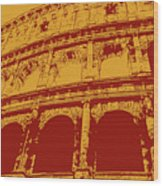 The Majestic Colosseum Of Rome Wood Print